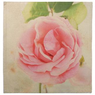 Pink rose vintage napkin
