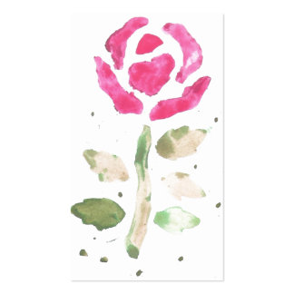 Pink Rose (Watercolor by K.Turnbull Art) Pack Of Standard Business Cards