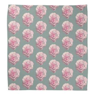 Pink Rose Watercolor Illustration Pattern Bandana
