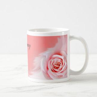 Pink rose wedding favour mug... coffee mug