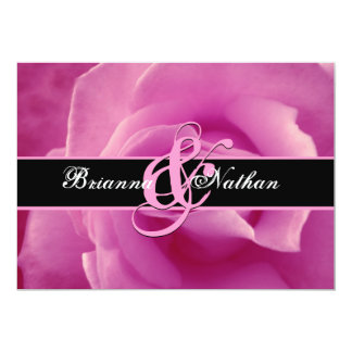 Pink Rose Wedding Announcement