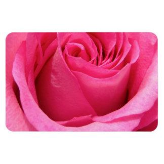 Pink Rose Wedding Photo Rectangular Photo Magnet