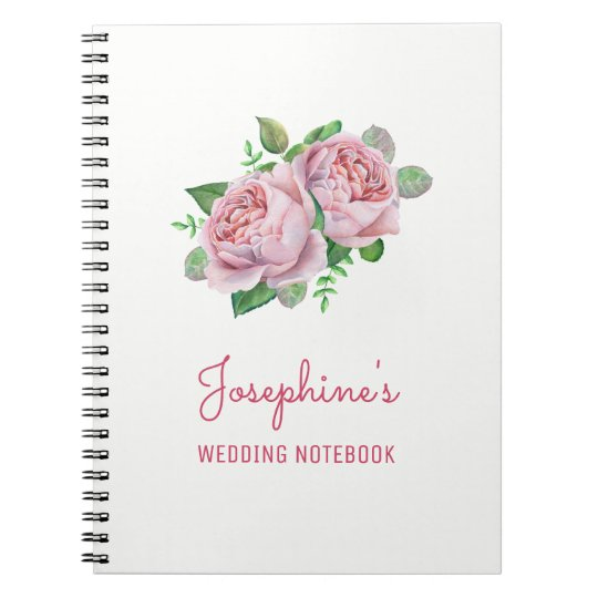 Pink Rose Wedding Planning Notebook