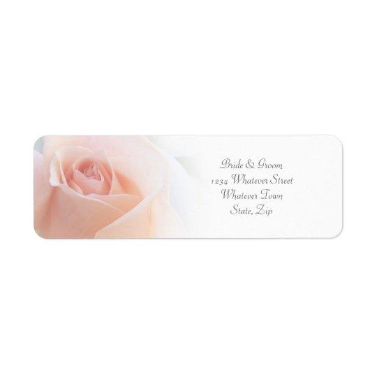 Pink Rose Wedding Return Address Label