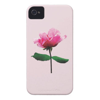Pink Rose with Dew Case-Mate iPhone 4 Case