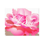 Pink Rose With Love Gallery Wrapped Canvas