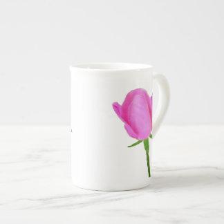 Pink rose with Tea Time Haiku Bone China Mug
