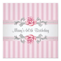 Womans 60th Birthday Party Card