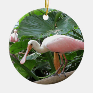 Pink Roseate Spoonbill Bird Christmas Ornament