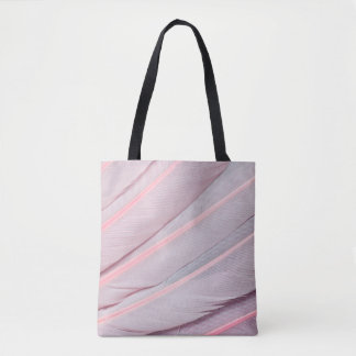 Pink Roseate Spoonbill Feahter Design Tote Bag