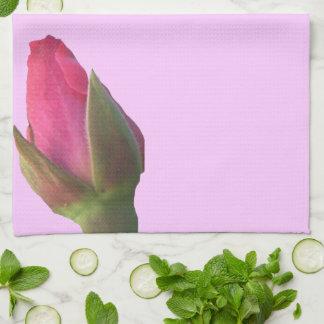 Pink Rosebuds Kitchen Towel