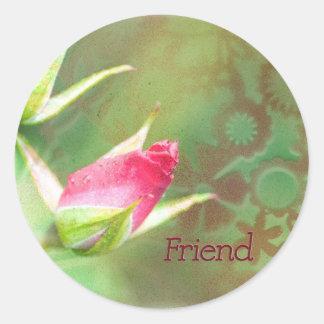 Pink Rosebuds Stickers