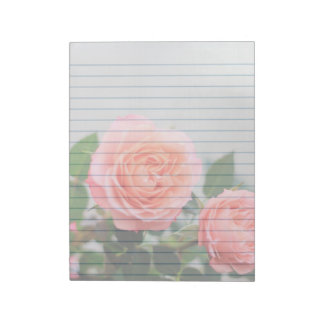 "Pink Roses  8x11"" notepad"