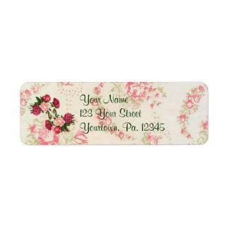 Pink Roses Address Label