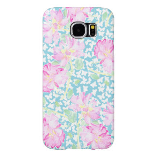Pink Roses and Butterflies Samsung Galaxy S6 Case