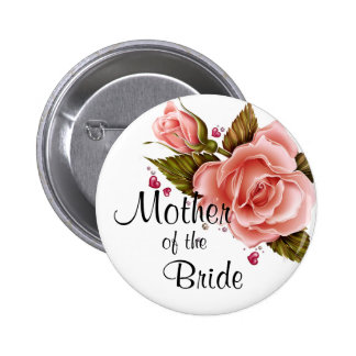 Pink Roses Pinback Buttons