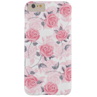 Pink roses barely there iPhone 6 plus case