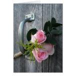 Pink Roses & Barn Door Card