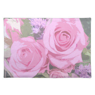 Pink Roses Bouquet Placemat