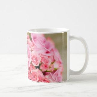 Pink Roses Bridal Bouquet Coffee Mug