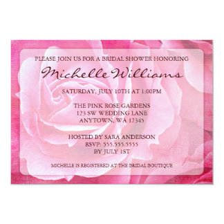 Pink Roses Bridal Shower Invitations
