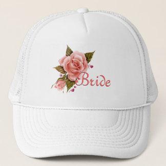 Pink Roses Bride Baseball cap