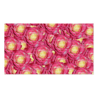 Pink roses business cards