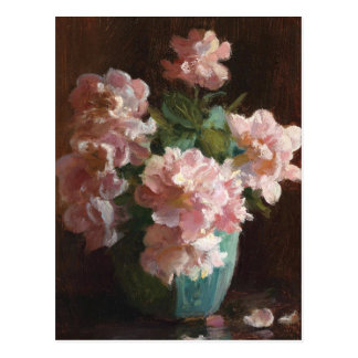 Pink Roses by Charles Courtney Curran Postcard