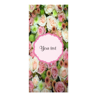 Pink  Roses & Chrysanthemums Full Colour Rack Card