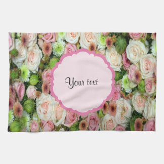 Pink  Roses & Chrysanthemums Hand Towels