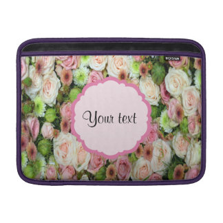 Pink  Roses & Chrysanthemums MacBook Air Sleeves