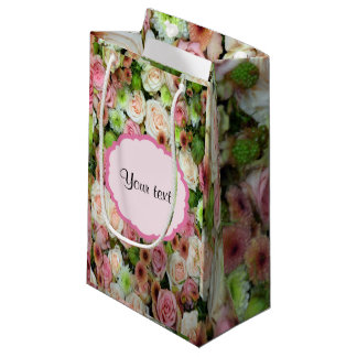 Pink  Roses & Chrysanthemums Small Gift Bag