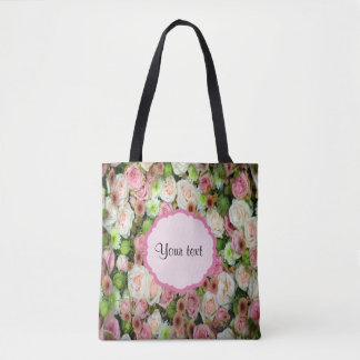Pink  Roses & Chrysanthemums Tote Bag