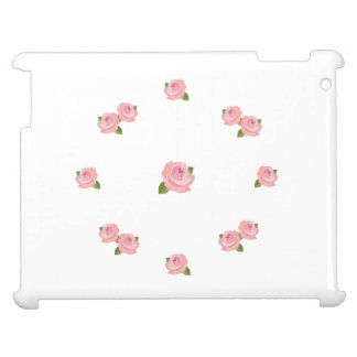 Pink Roses Circular Horizontal Design Case For The iPad
