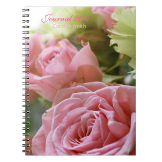 Pink Roses Cluster 1 Spiral Note Book
