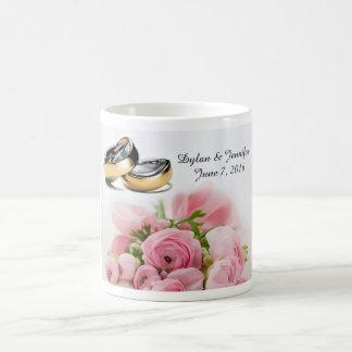 Pink roses coffee mug