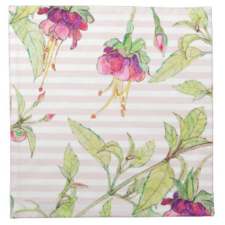 Pink Roses Cute Floral Pattern Cloth Napkins