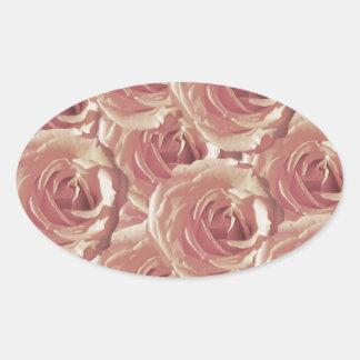 Pink  Roses Design Sticker