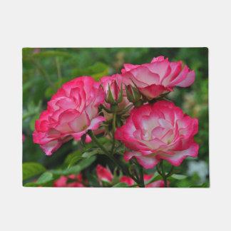 Pink roses doormat