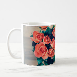Pink Roses Floral Mug