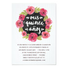 Pink Roses | Floral Quinceanera Party Card