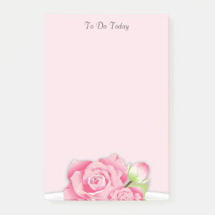Pink flowers to do list post it notes sticky notes zazzle pink roses flowers to do list post it notes mightylinksfo Image collections