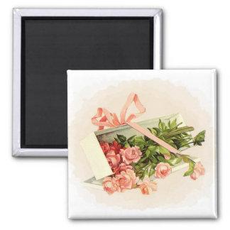 Pink Roses Gift Magnet
