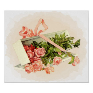 Pink Roses Gift Poster
