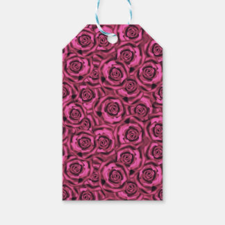 Pink roses . gift tags