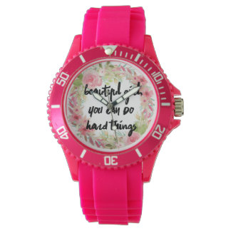 Pink Roses Girl Power Watch