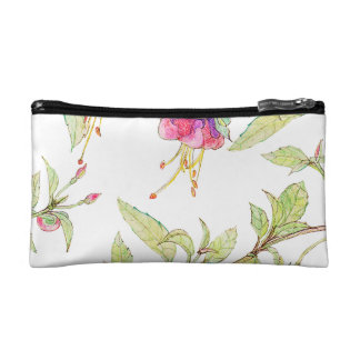 Pink Roses Girly Boho Pattern Cosmetic Bag