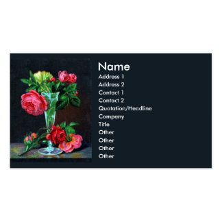 Pink Roses in Glass Vase Victorian Pack Of Standard Business Cards