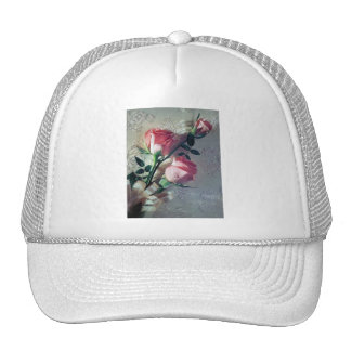 Pink roses lace wedding love mesh hat