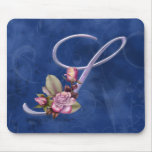Pink Roses Monogram S Mouse Pads